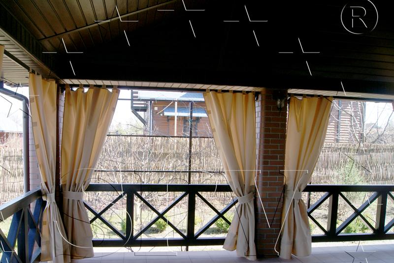 Как сделать шторы для веранды 336